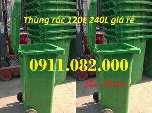 Chuyên bỏ sỉ thùng rác 120L 240L 660L giá thấp, thùng rác nhựa gi